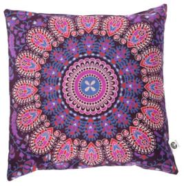 Indiase Katoen Boho Mandala Kussenhoes Plum Roze - 40 x 40 cm