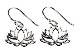 925 zilveren oorbellen Lotusbloemen