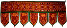 Toran rood olifanten met spiegeltjes 7  bladen