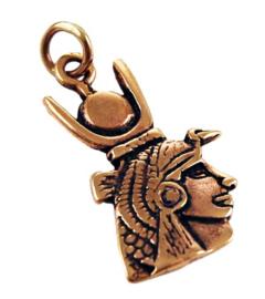 Ketting brons Egyptische Zonnekonigin Isis - 4.5 cm hoog