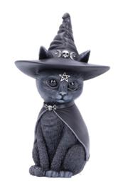 Purrah Zwarte Heksenkat 13.5 cm hoog