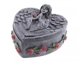 Sieraden doos Gothic Engel met Rozen