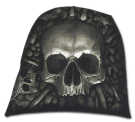 Spiral Direct - Catacomb - doodskop met botten - katoenen muts - beanie