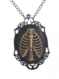 Gothic horror steampunk camee ketting ribbenkast 1