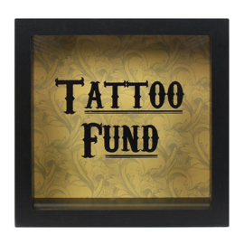 Spaarpot - Tattoo fund - Cabinet of Curiousities - 18 x 18 x 7 cm
