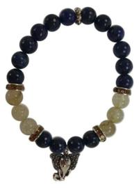 Armband Lapis Lazuli met bedel Ganesha