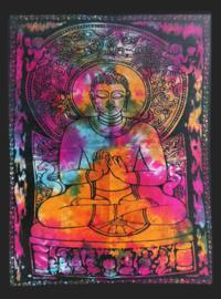Muurkleed Wandkleed Boeddha gekleurd  - 80 x 110 cm