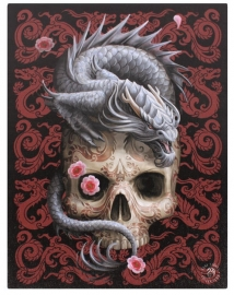 Oriental Dragon Skull - wandbord van Anne Stokes - 25 x 19 cm