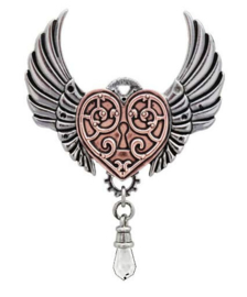Engineerium Anne Stokes Valkyrie Heart ketting