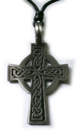 Pewter hanger Keltisch kruis 8