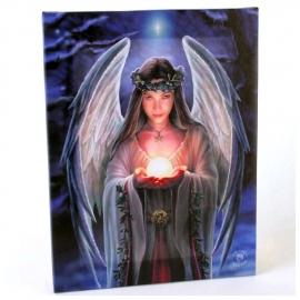 Yule Angel  - wandbord van Anne Stokes - 25 x 19 cm