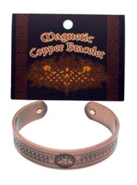 Armband koper brons magnetisch Levensboom