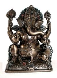 Ganesha design beeld bronskleurig 15 cm hoog