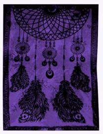 Bedsprei wandkleed grand foulard Droomvanger paars 210 x 230 cm