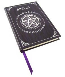 Embossed Book of Spells - paars - 17 cm hoog - GERESERVEERD NIET KOPEN