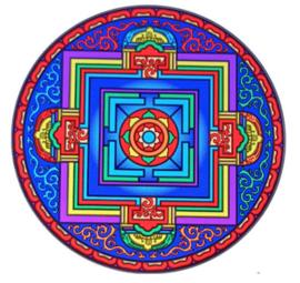 Raamsticker Vajra Mandala - 14 cm Ø
