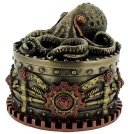 Boxtopus - sieradendoos - Steampunk octopus Cthulu - 10.5 cm doorsnee