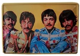 Blikken metalen wandbord Beatles 1 20 x 30 cm