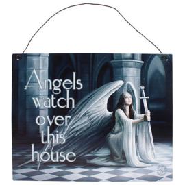 Metalen wandbord Anne Stokes - Angels - 19 x 24 cm