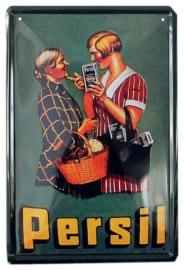 Blikken metalen wandbord Persil - 20 x 30 cm