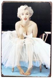 Blikken metalen wandbord Marilyn 7 20 x 30 cm