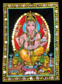 Indiase Hindu god wandkleed Ganesha 40 x 55 cm