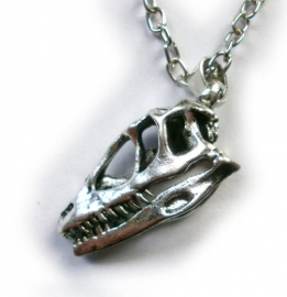 Punk Gothic ketting schedel dinosauriër