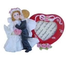 Huwelijk fotolijst met hart 10 x 15 cm dessin 1