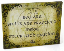 Beware of Spells - wall plaque by Dr Wierd - 25 x 19 cm