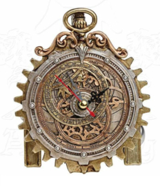 Alchemy of England the Vault - Anguistralobe Steampunk klok - 12 cm hoog