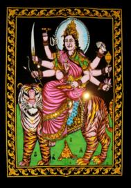 Indiase Hindu god wandkleed Durga 40 x 55 cm
