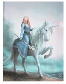 Journey Starts Anne Stokes canvas wandbord 25 x 19 cm