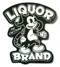Sticker Liquor Brand - Fat Cat Cartel
