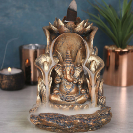 Backflow wierookbrander Ganesha brons - 14 cm hoog
