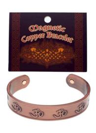 Armband koper brons magnetisch OHM