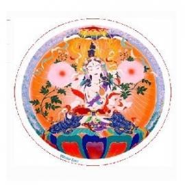 Raamsticker White Tara Healing