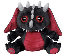 Spiral Direct Gothic Horror knuffel - Baby Draak - dragon soft toy - 27 x 30 cm
