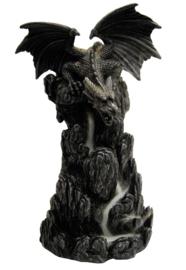 Gothic Draak kleine vleugels - *backflow* wierookkegel brander 2 - 19 cm hoog