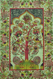 Bedsprei / wandkleed Levensboom Tree of Life Groen - 225 x 150 cm