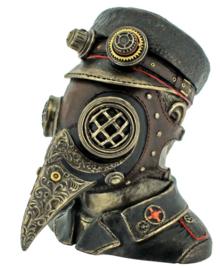 Steam Doctor - Steampunk Pestdokter Gothic Horror beeld doos - 15.5 cm hoog