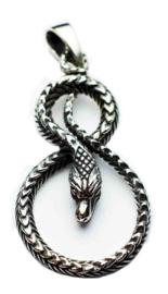 925 zilveren kettinghanger slang - 3.5 cm lang