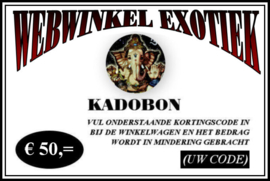 Kadobon € 50,=