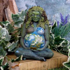 Mother Earth - Godin Gaia - Keltisch Wicca beeld - gekleurd - 17.5 cm hoog