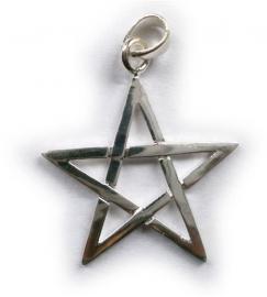 925 zilveren kettinghanger Pentagram - 1.5 cm doorsnee