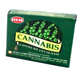 Hem wierookkegels Cannabis