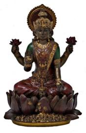 Lakshmi op Lotus - 11 cm hoog
