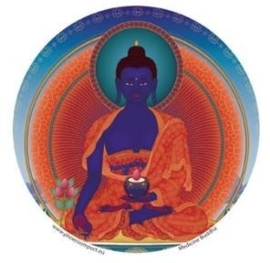 Window sticker Medicine Buddha