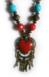 Tibetaanse ketting rood hart