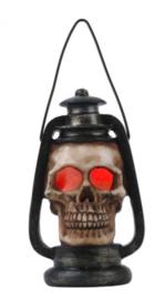 Doodskop kleurveranderende ledlamp in de vorm van een olielamp - 14cm x 7.5cm x 6.5cm