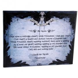 The Raven - wandbord van Dr. Wierd - 25 x 19 cm
